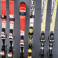 downhill race skis FIS SL157, SG208, GS183; NONFIS GS180